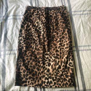 MICHAEL KORS Cheetah Print Pencil Skirt